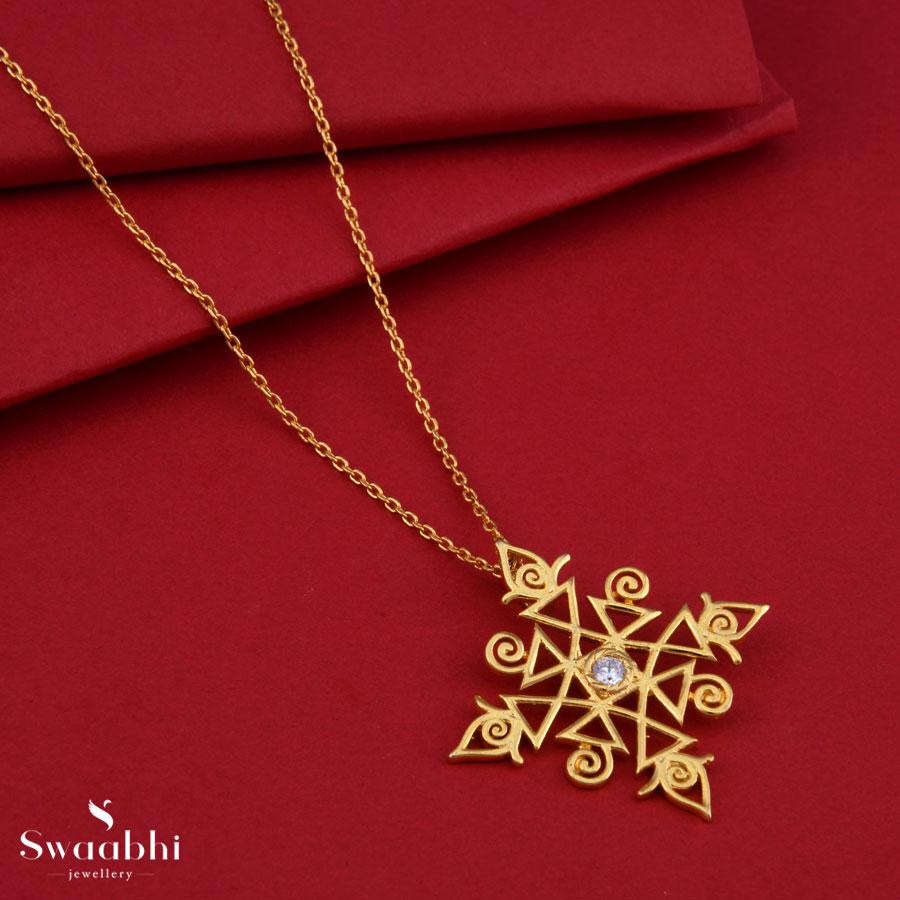 Diwali Rangoli Gold Necklace Rangoli Design 2